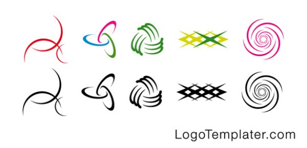 10 Modern Vector Curves Logos vectors vector graphic vector unique swirls simple quality photoshop pack original modern logos interlocking illustrator illustration high quality fresh free vectors free download free download curves creative ai abstract
