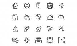 20 Web Line Vector Icons 354