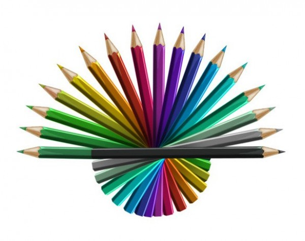 18 Detailed Colored Pencil Graphics PSD web unique ui elements ui stylish simple quality pencils pencil crayons original new modern interface hi-res HD fresh free download free elements download detailed design creative colorful colored pencils color wheel clean