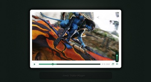Simple Video Player Template (PSD) web video player video unique ui elements ui stylish simple quality player original new modern minimal interface hi-res HD fresh free download free elements download detailed design creative clean
