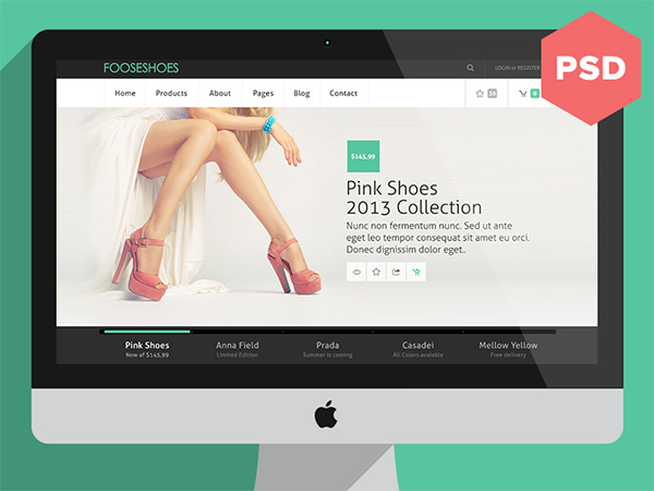 Fooseshoes eCommerce PSD Website Template website template shoes psd ecommerce website psd products free ecommerce website free fooseshoes ecommerce