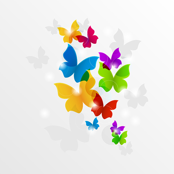 Colorful Flying Butterflies Abstract Background nature free download free flying colorful butterfly butterflies background abstract