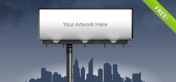 Advertisement Billboard Web Elements ui template psd photoshop illustration graphic free psd free downloads clean billboard