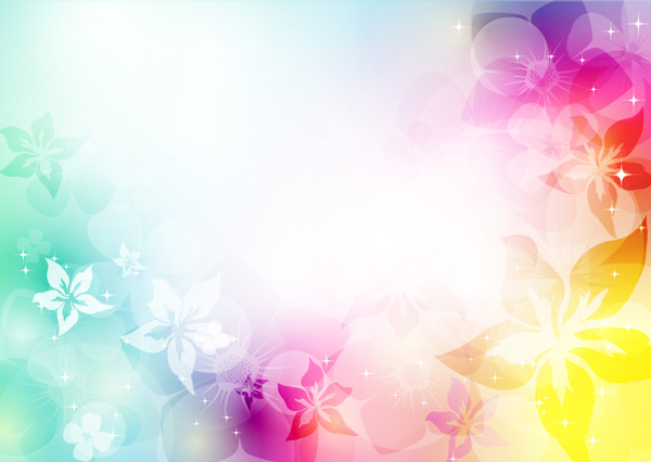 Glowing Floral Abstract Vector Background light frame floral bokeh background abstract