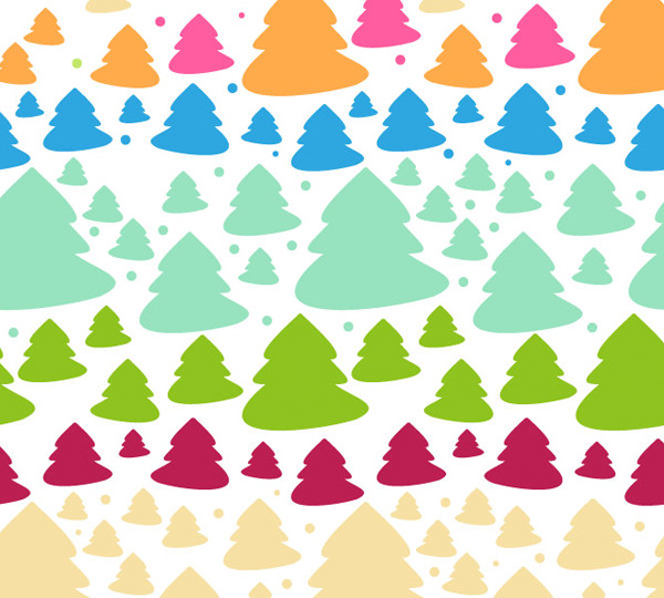 Colorful Cartoon Christmas Tree Pattern vector tree pattern free download free christmas tree christmas background abstract