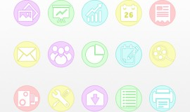 15 Circular Business Infographic Icons Set 211
