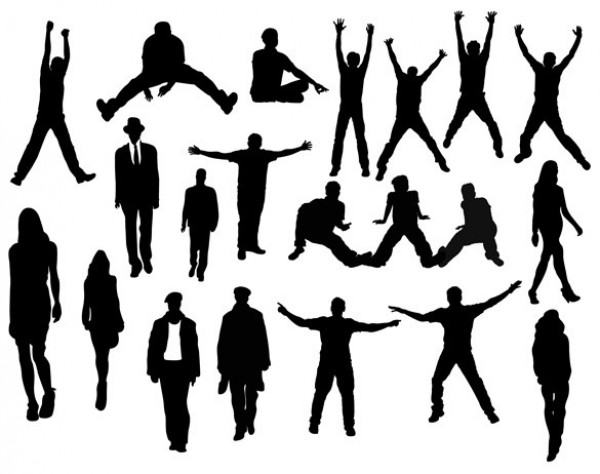 Action People Silhouettes Vector Pack woman web walking vector unique ui elements ui stylish sitting silhouettes quality png people pack original new modern jumping interface hi-res HD fresh free download free elements download detailed design creative clean businessman ai action