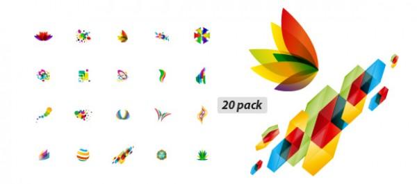 20 Vector Pack Ripe elements vectors vector logos logo graphic elegant ai abstract 20 pack