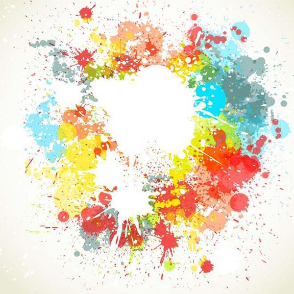 Paint Splatter Colorful Background splash paint splatter paint colorful background abstract