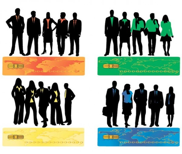 8 Business People Silhouette Vector Set web vector unique stylish silhouettes silhouette quality people original illustrator high quality graphic girls girl silhouettes fresh free download free download design creative business people silhouettes business