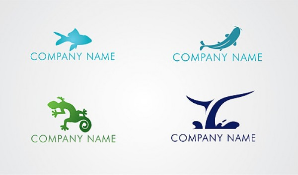 4 Animal Logo Pack whale vector slick reptile pack mega pack logo high quality green free vectors free downloads fish fauna eco blue Animal