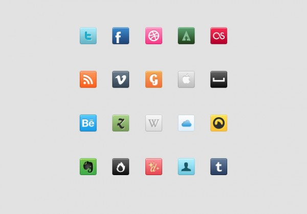 Social Icon Set youtube vimeo twitter tumblr trends psd popular pixel photoshop lastfm icon free facebook behance 2.0 web 2.0