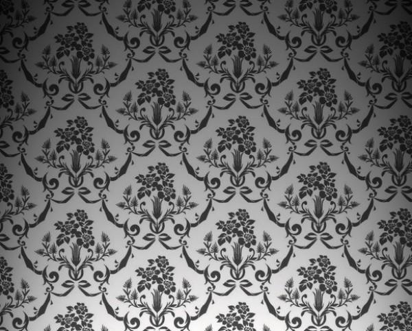 Vintage Floral Wallpaper Pattern PSD web wallpaper vintage unique ui elements ui stylish quality psd pattern original new modern interface hi-res HD grey fresh free download free floral elements download detailed design damask creative clean black background backdrop