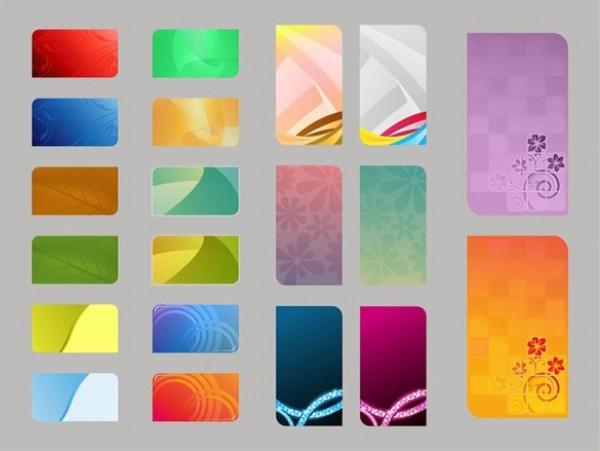 20 Colorful Abstract Business Card Templates Set web vector unique ui elements stylish shiny set Rectangles quality presentation plants original new leaves interface illustrator identity high quality hi-res HD graphic fresh free download free flowers floral elements download detailed design creative Colours Colourful cards Card Vectors business cards background abstract