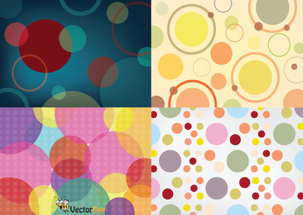 4 Seamless Circle Patterns Vector Set web vector unique ui elements stylish set seamless quality pattern original new interface illustrator high quality hi-res HD graphic fresh free download free eps elements download detailed design creative colorful circles background circle pattern background ai