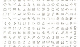 200 Tonicons Sketch Font Outline Icons 348