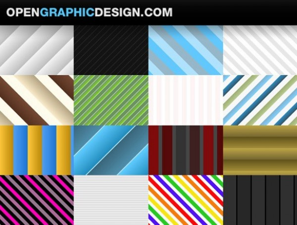 16 Amazing Seamless Stripe Vector Patterns web vector unique tileable stylish striped stripe seamless quality pattern original illustrator high quality graphic GIF fresh free download free download design creative colorful blue background