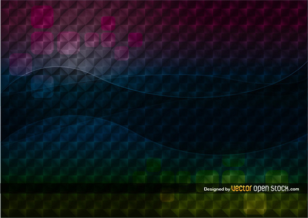 Dark Wave Geometric Abstract Background wave vector squares pattern illusion geometric free dark background abstract