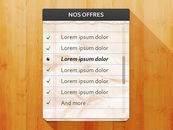 Checklist with Slider Notepad wood slider pattern note pad list checklist check
