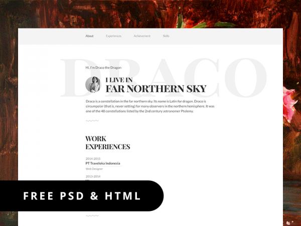 Responsive Resume Template HTML/PSD template resume responsive psd html
