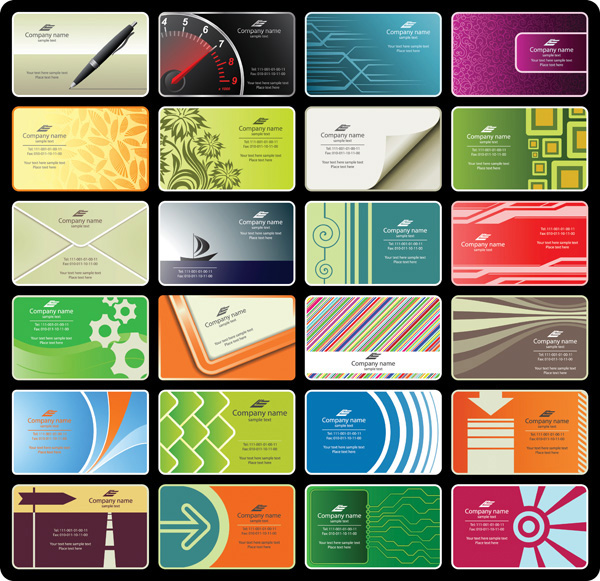 24 Professional Business Card Templates Set web vector unique ui elements technical stylish set quality presentation original new linear interface illustrator identity high quality hi-res HD graphic geometric fresh free download free floral eps elements download detailed design creative cards card business cards business boats abstract