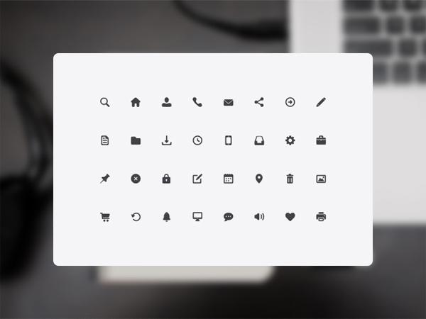 32 Mobile App Web Icons toolbar set mobile minimal icons app