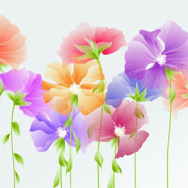 Dainty Spring Flowers Vector Background vector spring pastel fresh free download free flowers floral delicate dainty background