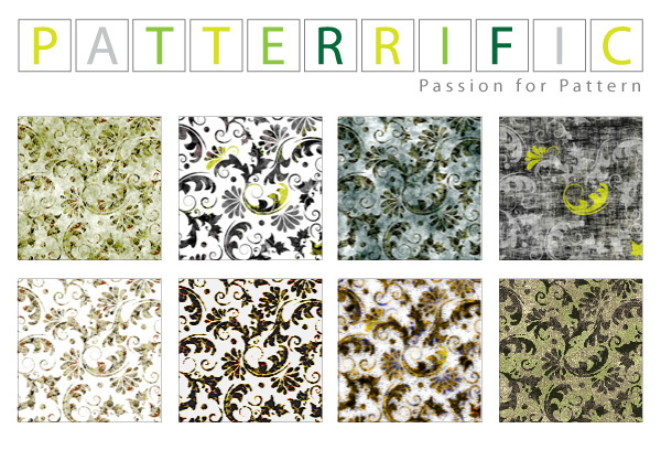 8 Seamless Grunge Floral Patterns Set ui elements ui tile swirl seamless pattern leaves grunge free download free floral background abstract