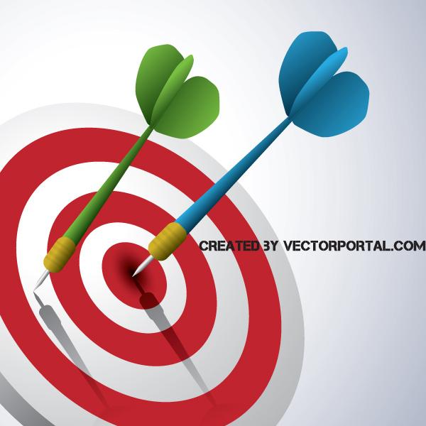 Bulls Eye Darts Target Success Graphic target success goal game darts colorful business bulls eye
