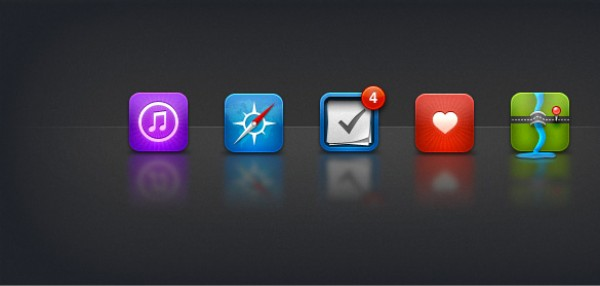 iOS Icons things safari professional maps mac itunes iphone ipad icons icon favorites clean apple android