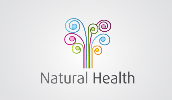 Floral Swirl Natural Health Logotype Logo swirl spa nature natural logotype logo health free download free flowers floral colorful
