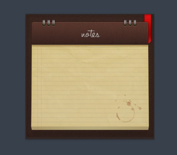 Digital Notepad PSD wood sharp ribbon red psd professional photoshop psd notepad free psd free downloads digital clean brown