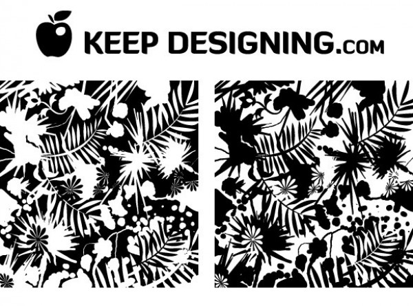 2 Grunge Jungle Splatter Black & White Vector Patterns Set white web vector unique ui elements stylish splatter set seamless quality pattern palms original new jungle interface illustrator high quality hi-res HD grunge graphic fresh free download free floral eps elements download detailed design creative black background