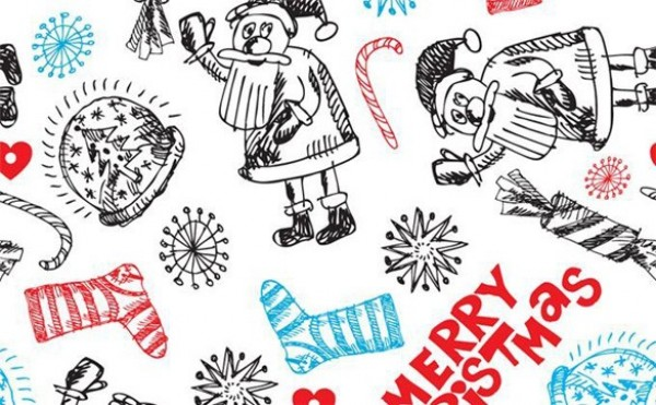 Hand Drawn Christmas Vector Pattern web vector unique stylish santa quality pattern original illustrator high quality graphic fresh free download free download design creative christmas background