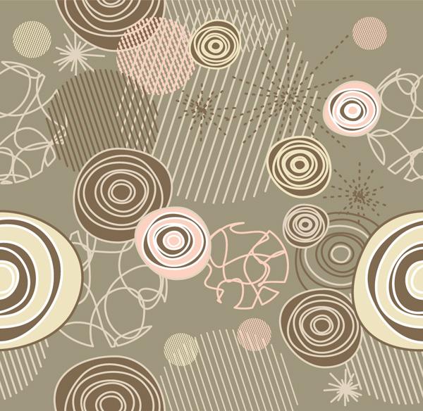 Retro Scribble & Circles Abstract Vector Pattern vector scribbles retro pattern lines free download free circles pattern circles background art abstract