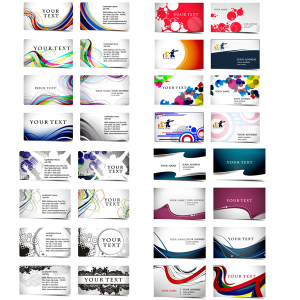32 Brilliant Business Cards Vector Set web waves vector unique ui elements template stylish set quality presentation pack original new interface illustrator identity high quality hi-res HD graphic fresh free download free eps elements download detailed design creative corporate colorful circles card business cards abstract