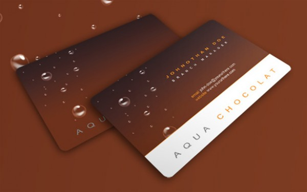 Original Style Business Card PSD web water drops vectors vector graphic vector unique ultimate quality photoshop pack original new modern illustrator illustration high quality fresh free vectors free download free download design creative company chocolate card business card business ai