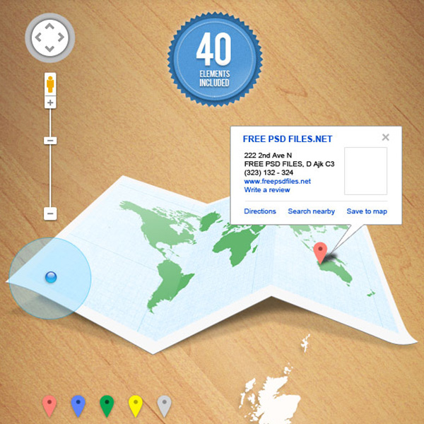 40 Map UI Elements Pins N Tabs tabs map ui map tags map pins map icons free download free buttons