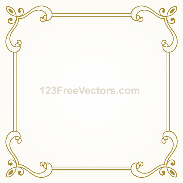 Simple Decorated Vector Floral Frame vector simple frame floral frame floral