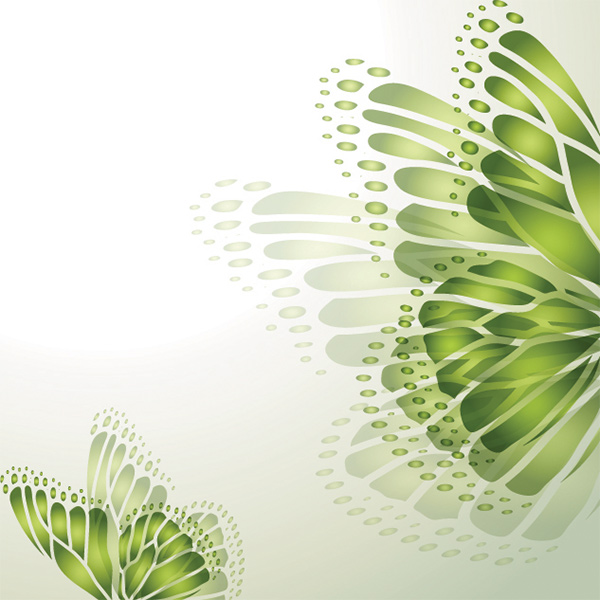 Glowing Green Butterfly Abstract Background vector spring green free butterfly butterflies background art abstract