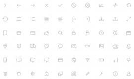 100 Minimal Line Icons Pack 164