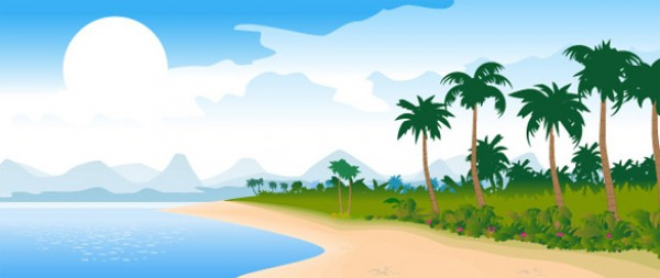 Beautiful Vector Ocean Beach Background vectors vector graphic vector unique tropics tropical quality photoshop pack original ocean modern illustrator illustration high quality fresh free vectors free download free download creative beach background ai