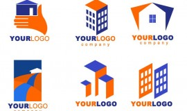 6 Real Estate Building Logos Set