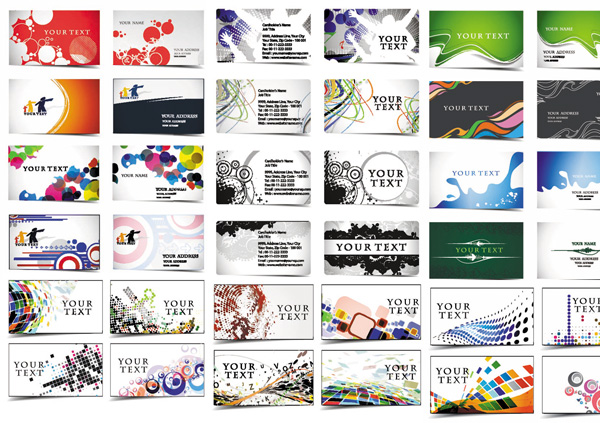 44 Well Designed Business Card Templates Set web vector unique ui elements template stylish set quality presentation card pack original new interface illustrator identity high quality hi-res HD graphic fresh free download free elements download detailed design creative corporate colorful card business cards business ai abstract
