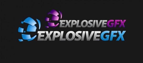 Bits Explosion Explosive GFX Logo logos logo gfx explosive explosion bits ai