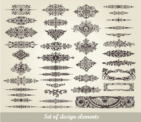 Floral Swirl Decorative Design Elements web vector unique ui elements swirl stylish scroll quality ornaments original new interface illustrator high quality hi-res HD graphic fresh free download free floral elements download detailed design elements design decorative decoration creative border