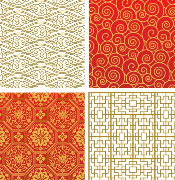 8 Lovely Asian Vector Seamless Patterns web vector unique stylish seamless repeatable quality patterns original oriental new illustrator high quality graphic fresh free download free floral download design creative background Asian