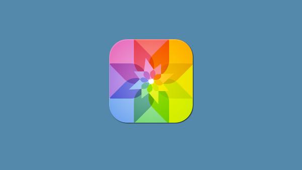 iOS Style Photos App Icon star picture icon pics icon photos photo icon ios icon free floral colorful app