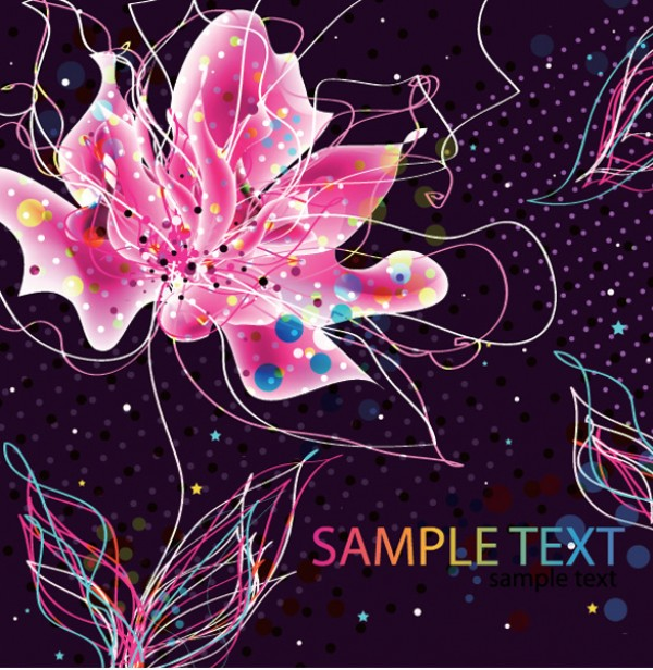Electric Vector Flower Abstract Background vectors vector graphic vector unique quality photoshop pack original modern illustrator illustration high quality fresh free vectors free download free flower floral electric download creative colorful background ai abstract