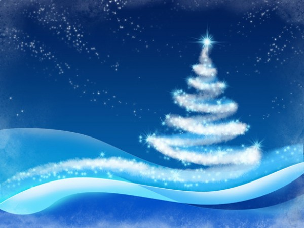 Winter Christmas Tree Background xmas wintertime winter wave wallpaper vectors vector graphic vector unique stars snowy snow quality photoshop pack original modern light illustrator illustration high quality fresh free vectors free download free download creative christmas tree background ai
